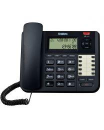 Uniden AT8501 Žični telefon sa 2 direktne linije,  identifikacijom poziva, spikerfonom, flush i  redil opcijama i 8 memorijskih tastera.