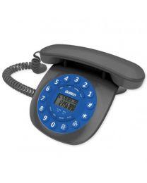 Uniden CE6601 Blue Žični Telefon inspirisan je dizajnom nekada najpopularnijih telefona, sa identifkaciojom poziva, redial i flash funkcijama.