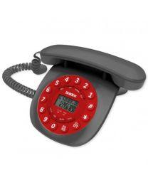 Uniden CE6601 Red Žični Telefon inspirisan je dizajnom nekada najpopularnijih telefona, sa identifkaciojom poziva, redial i flash funkcijama.
