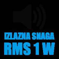 Izlazna snaga zvučnika 1W RMS